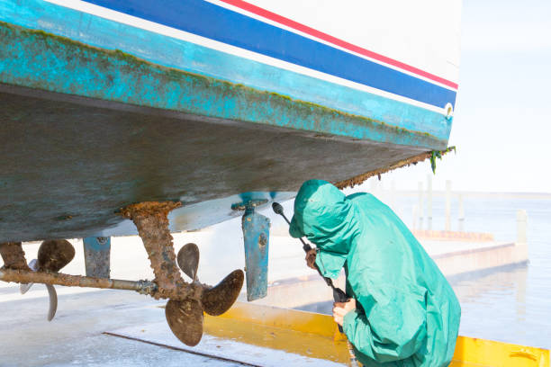 scrapping rust and maintaining a boat